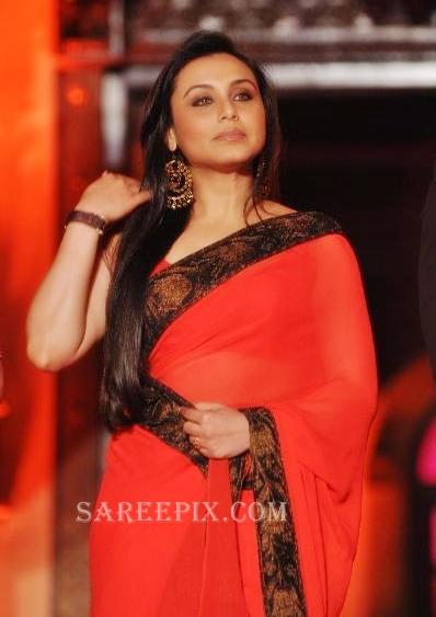 rani mukherjee saree pics at saraswatichandra serial launch