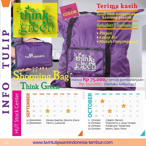 Shopping Bag Think Green Promo