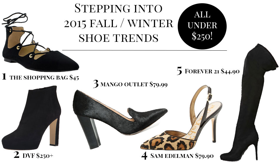 Step Inside My Closet - Stepping Into Shoe Trends - The Shopping Bag, Mango Outlet, DVF, Sam Edelman, Forever 21,