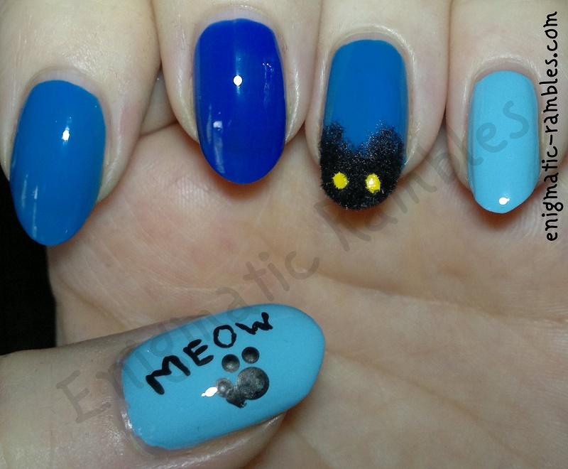 black-cat-fur-flocking-powder-nail-nails-art