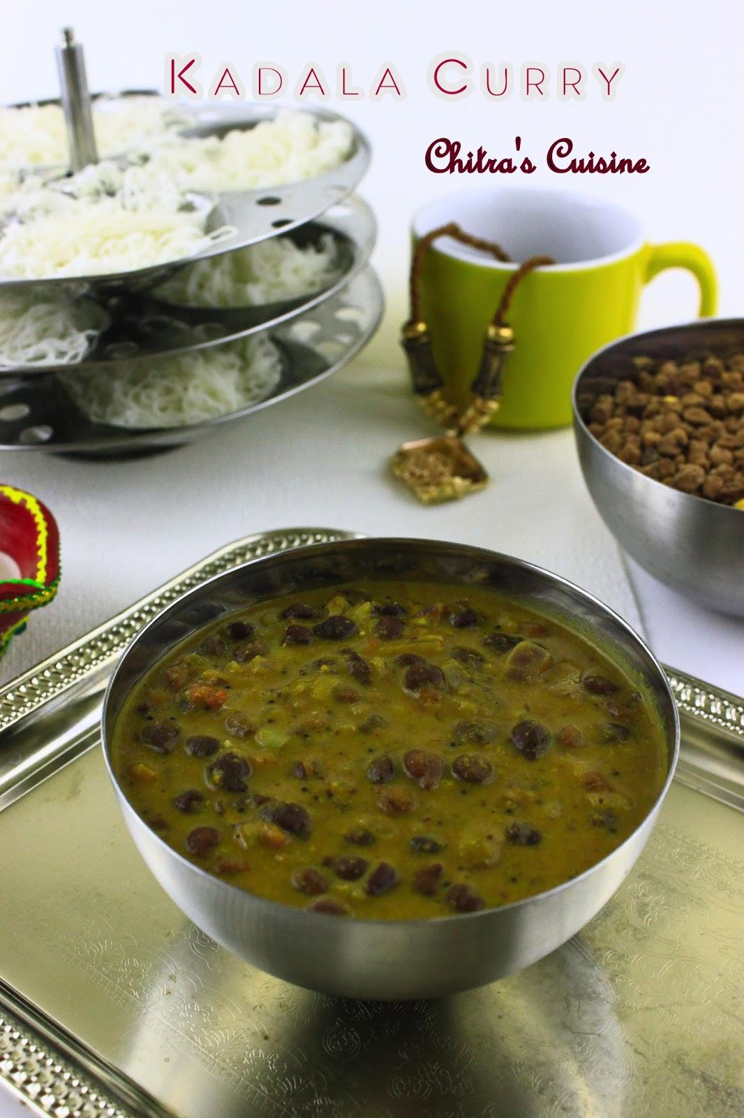 kadala curry/black channa gravy/kala channa gravy