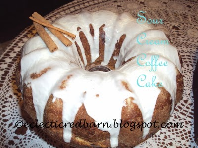 Eclectic Red Barn: Sour Cream Coffee Cake