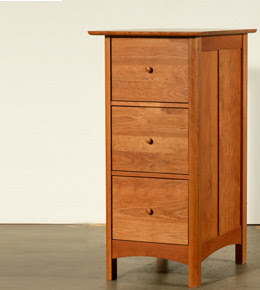 wood 3-drawer vertical file cabinet