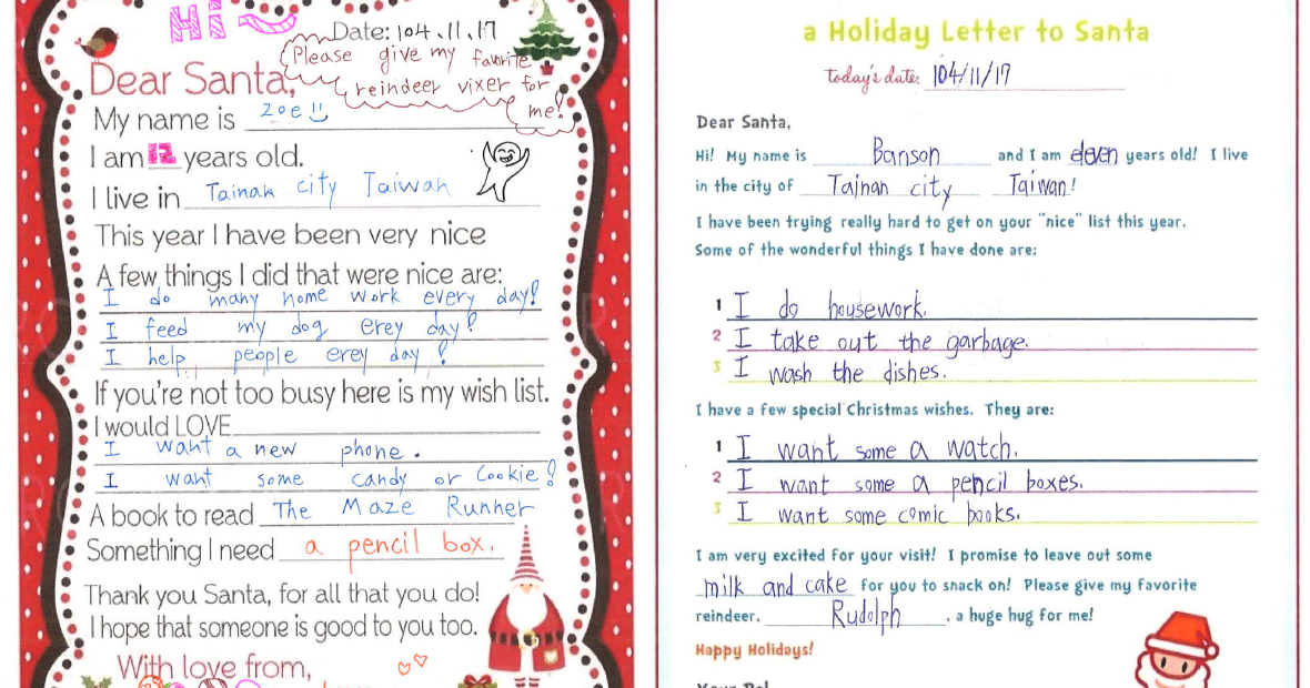How to write a letter to santa clause