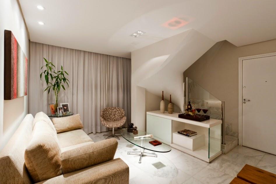 Construindo minha casa clean: 30 salas decoradas com escadas ...