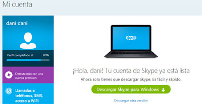 perfil skype