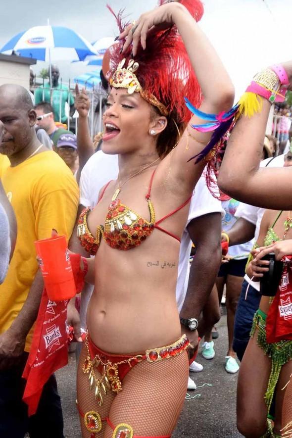 rihana drunken bikini girl