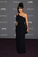 Salma Hayek in a black gown