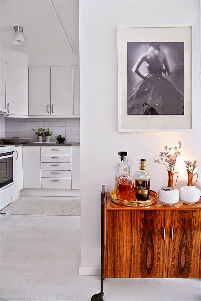 mueble bar camarera retro madera danesa