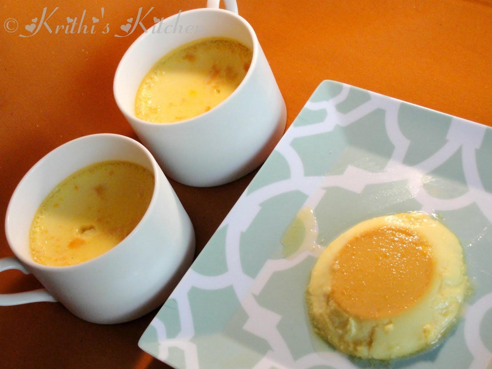 Krithi's Kitchen: Orange Flan / Orange Crème caramel