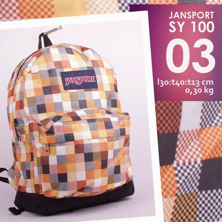 jual online tas jansport murah model ransel motif kotak-kotak