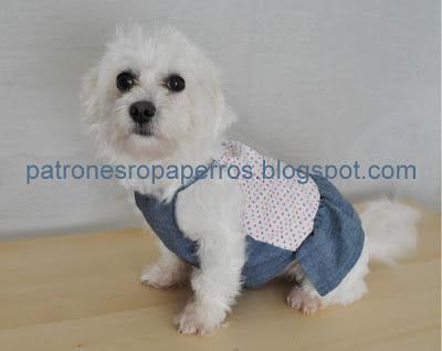 patrones vestido verano perro