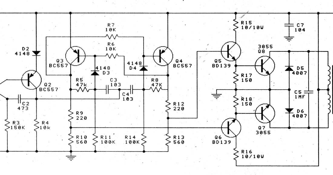 12v to 220v 100w transistor inverter diagram