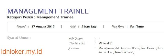 lowongan kerja management trainee pt telkom agustus 2015