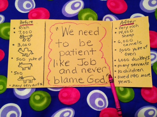 Children's Bible Lessons: Lesson - The Patience of Job