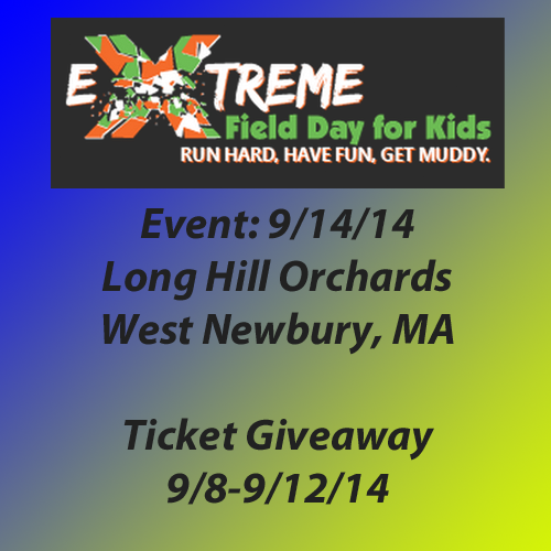 Enter the Extreme Field Day for Kids Giveaway (Boston). Ends 9/12.