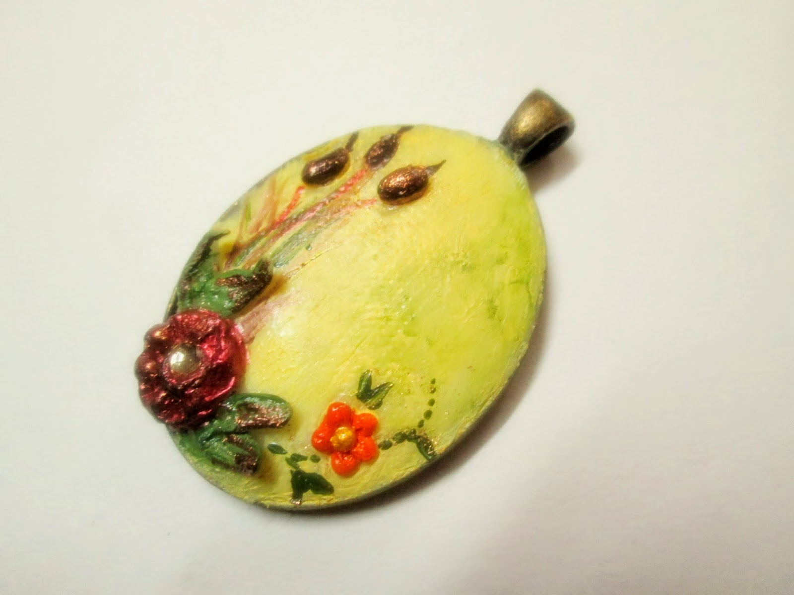 Handcrafted Cold Porcelain Pendant