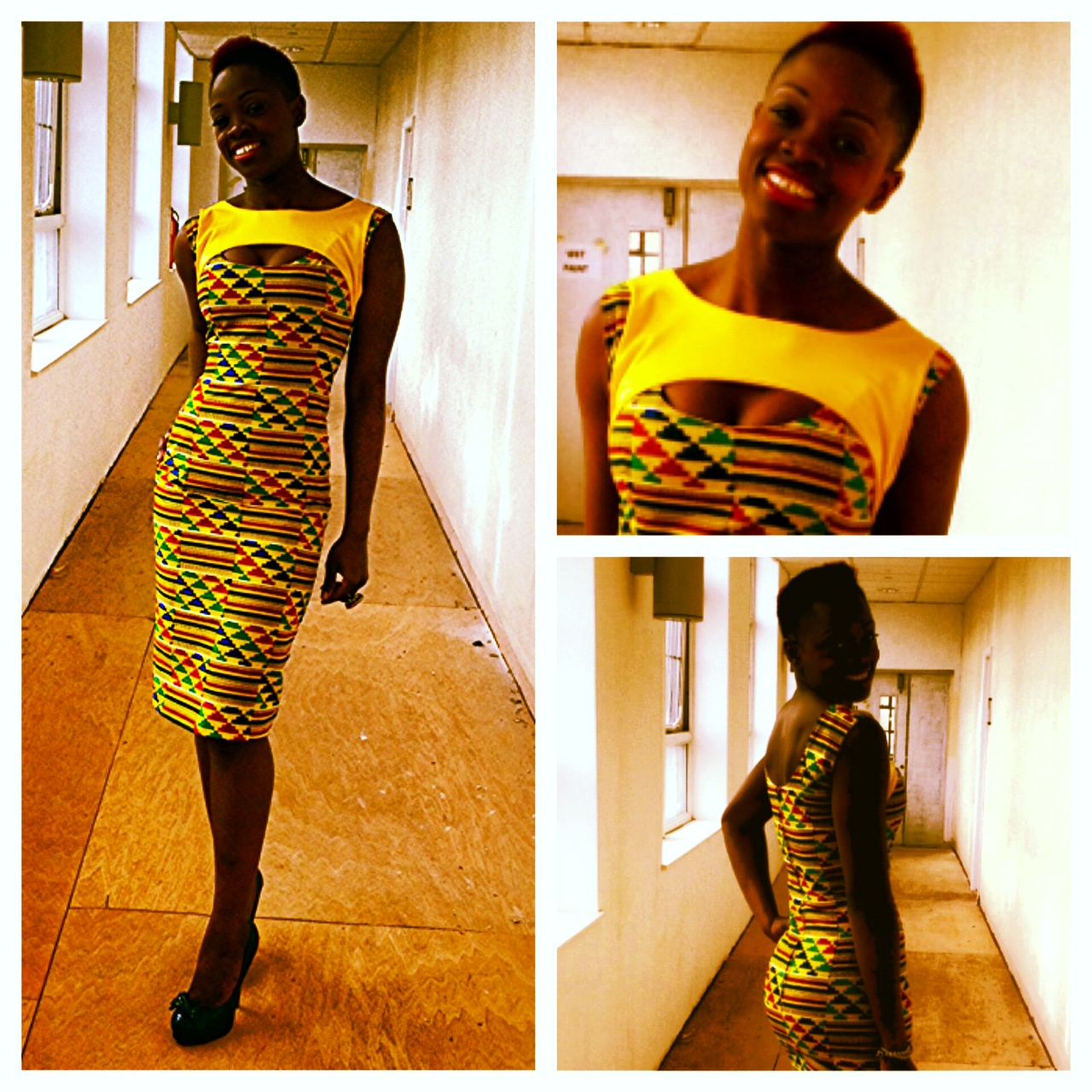 Asakeoge african print kente dress 2012 absorbing abest selling a