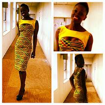 African Kente Print Dresses