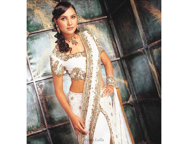 She fashion club white indian wedding dress for Wedding dresses indian style