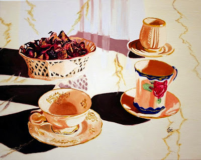 Tea-Set-And-Candy-Dish-Oil-Paintings