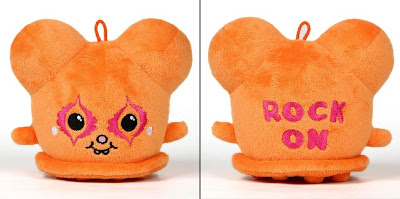 "Orange ""Rock On"" Buff Monster Plush Figure"