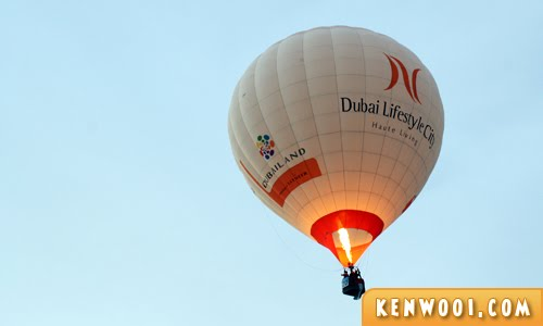 putrajaya hot air balloon dubai