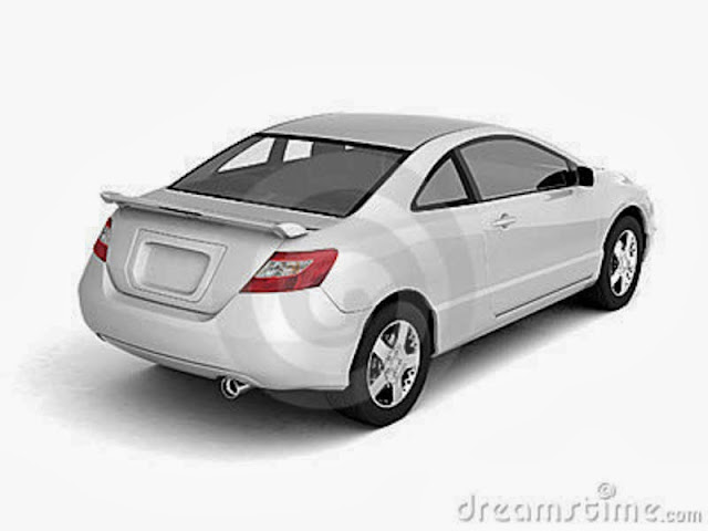 Car Back White Background