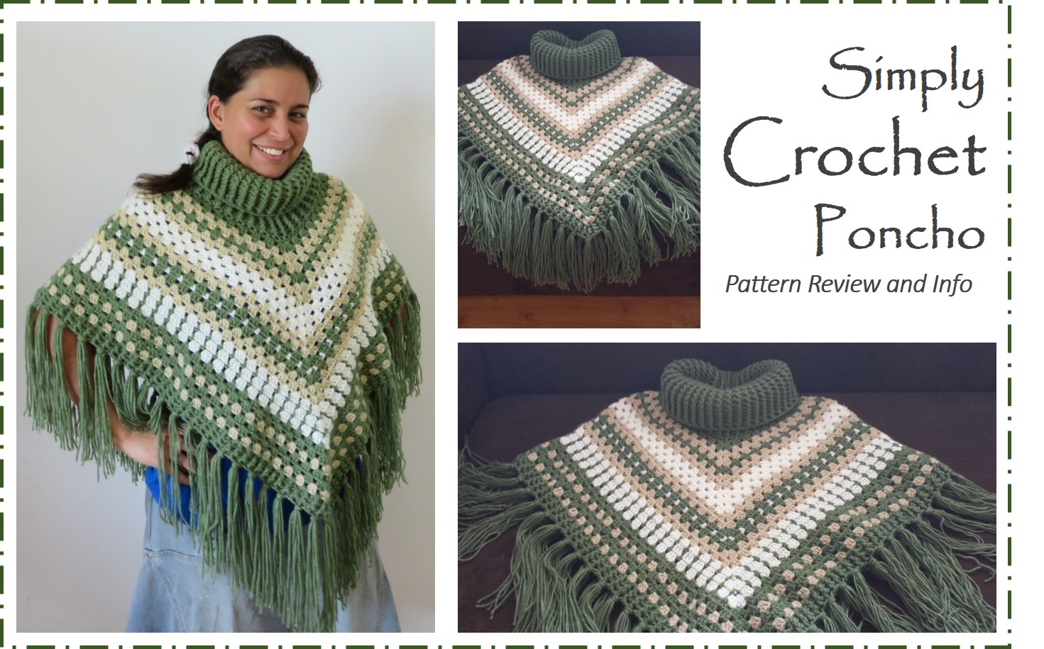 Free Crochet Patterns For Cowl Neck Poncho : Jungling the Odds: Simply Crochet Cowl Neck Poncho Pattern ...