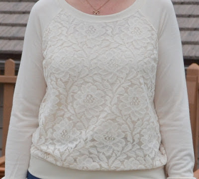 Lace sweatshirt, details