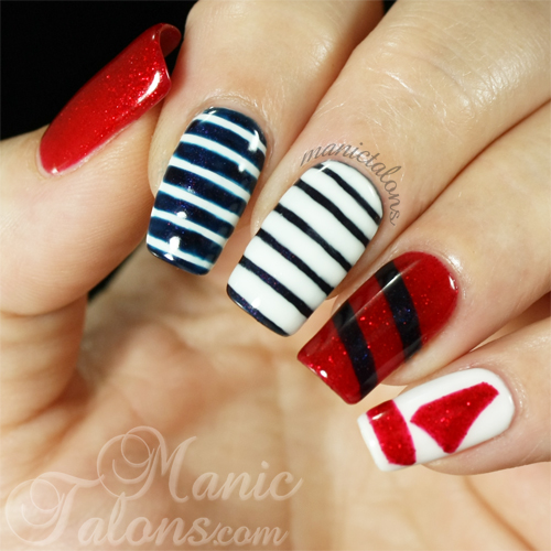 Manic Talons Nautical Manicure Recreation