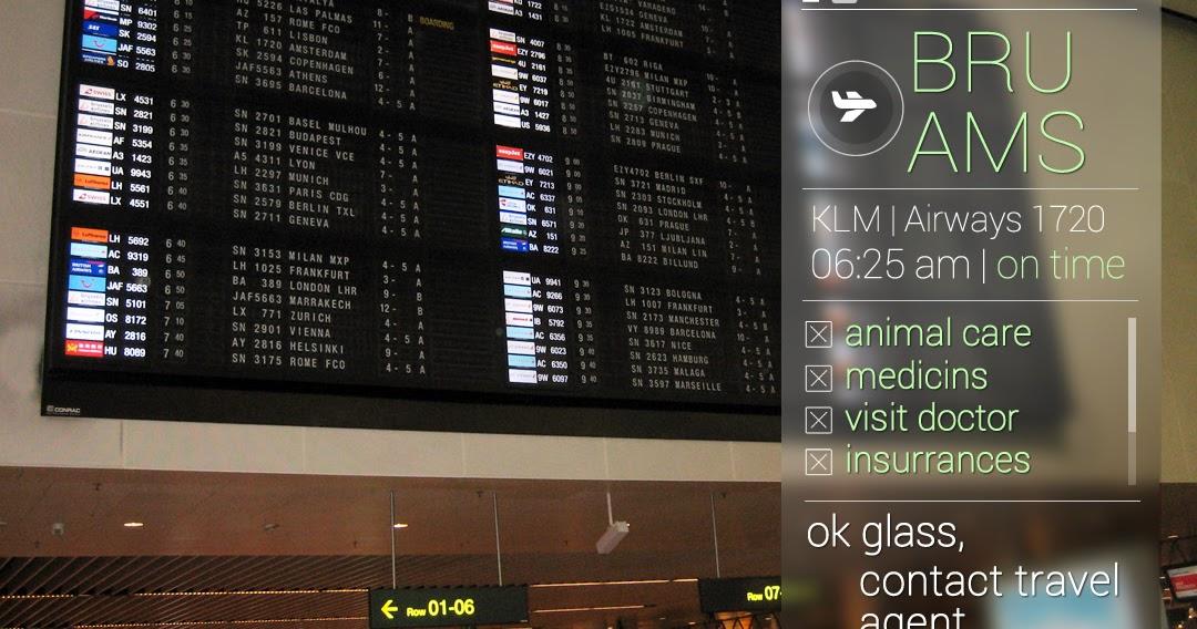 Vluchtinformatie en andere taken met Google Glass