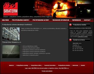 Tvorba www stránky pre výrobcu protipožiarnej omietky