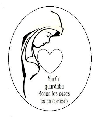 PARA COLOREAR: Imágenes de la Virgen para colorear