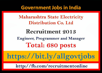 MSEDCL Recruitment 2013 for Engineer, Programmer and Manager