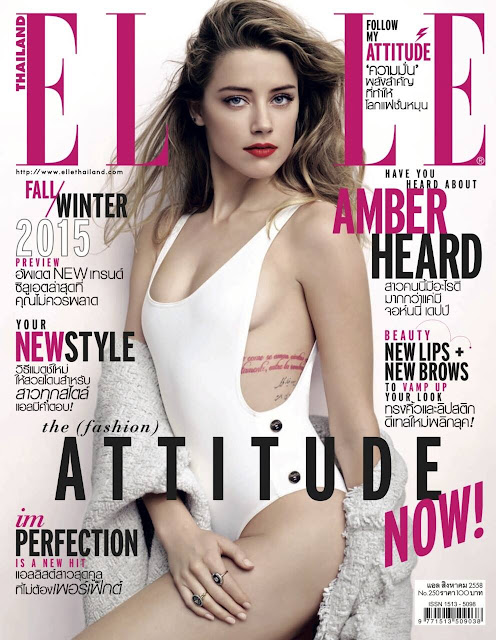 Actress, Model @ Amber Heard - Elle Thailand, August 2015