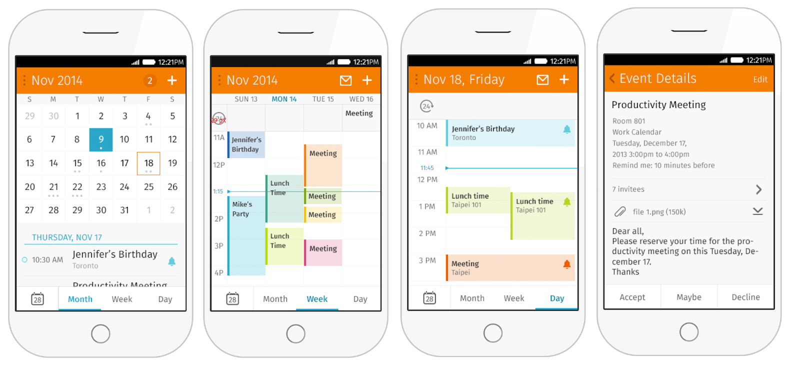 firefoxos - E-mail client, and Calendar