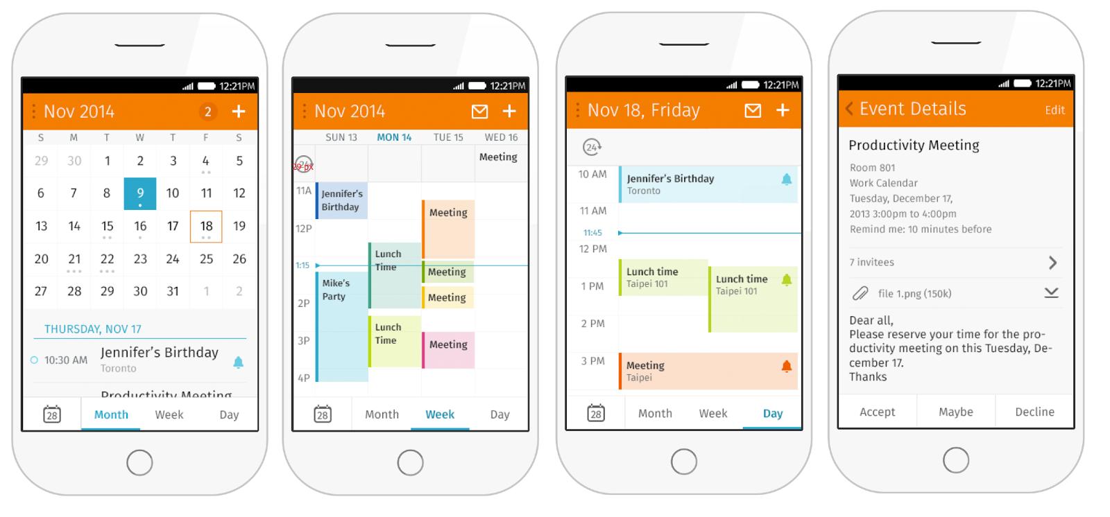 firefoxos - E-mail client, and Calendar