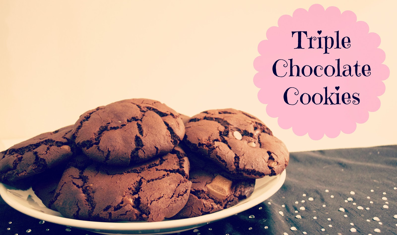 Triple Chocolate Cookies - The Pampered Mum