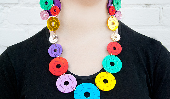 tatty devine, sequin, necklace