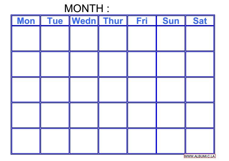 and excel forms | 2016 Blank Calendar - calendar en - WWW.ALBUMI.C.LA ...