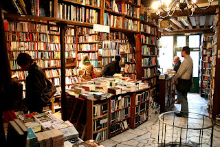 books galore, Shakespeare and Company bookstore, Paris