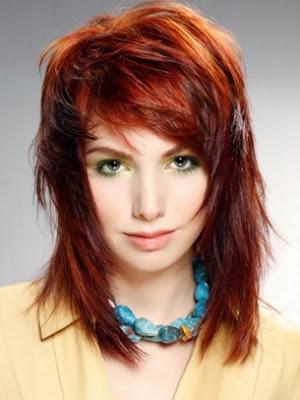 corte pelo rojo mujer