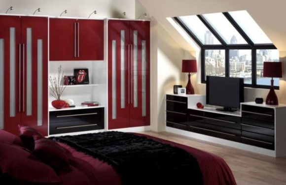 Charmant Cool Chambre Mur Rouge With Chambre Mur Rouge