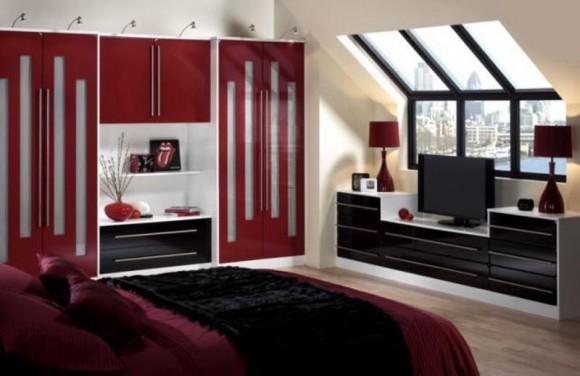 Chambre A Coucher Gris Et Rouge. Fabulous Peinture Dcorative Dessin ...