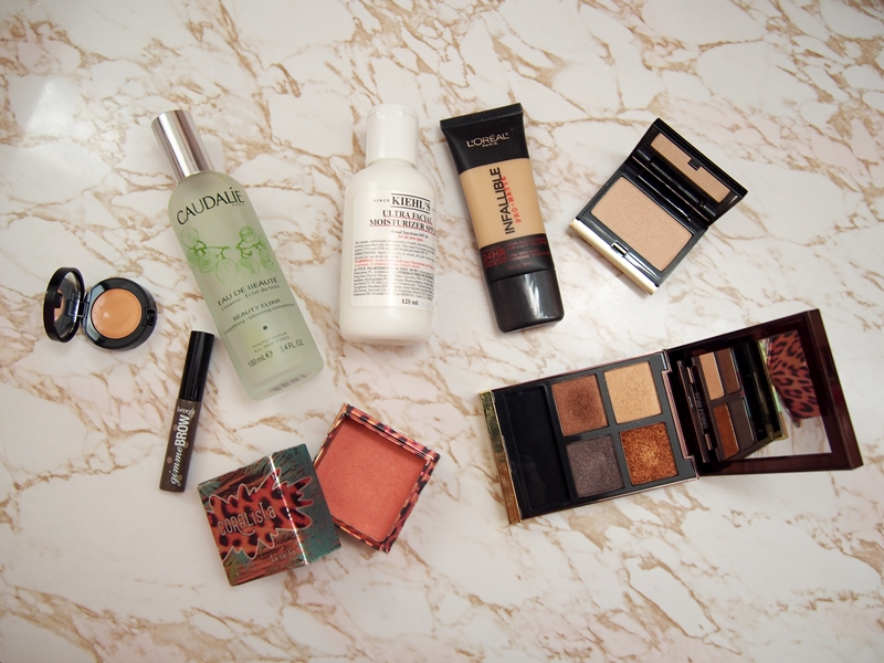 makeup and skincare products