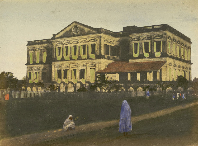 Military Orphan School, Kidderpore, Calcutta (Kolkata) - Hand-Coloured Print  c1851