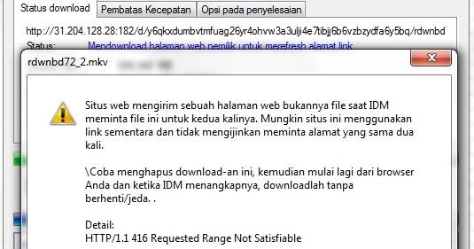 cara resume download idm yang gagal    bad request