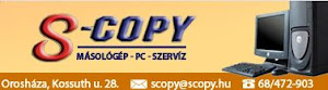 Támogató: S-Copy szaküzlet