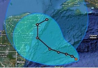 Live Ticker Hurrikan RINA: Wahrscheinlich als Major Hurricane nach Playa del Carmen & Cancún (Riviera Maya) und Westkuba, Position und erwarteter Verlauf Hurrikan RINA vom 24. Oktober 2011 abends, 2011, aktuell, Atlantik, Belize, Fluglinie airline Flug gecancelt, Hurrikansaison 2011, Oktober, Playa del Carmen, Rina, Riviera Maya, Verlauf, Vorhersage Forecast Prognose, Yucatán, Zugbahn,
